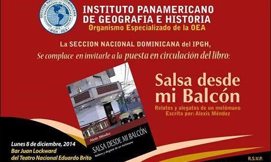 """Alexis Méndez lanza su libro """"Salsa desde mi balcón"""""""